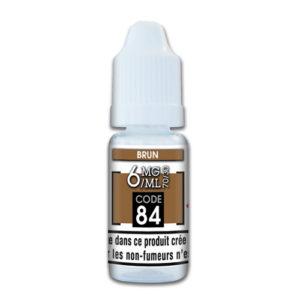E-liquide brun 6mg